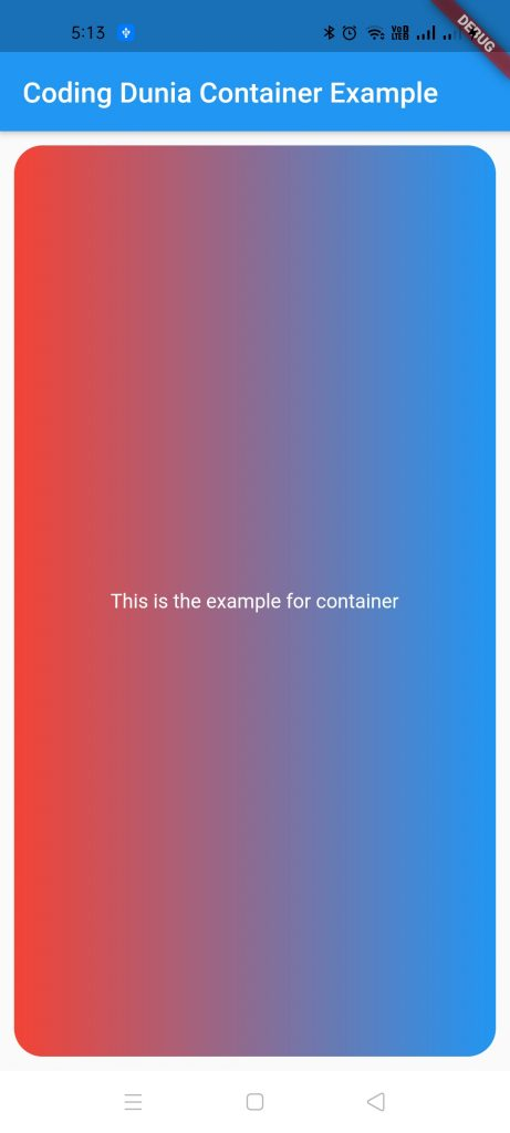 Container Output